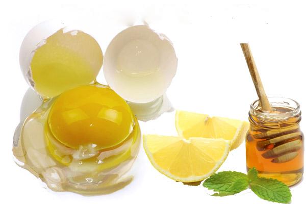 Cách dưỡng da bằng trứng gà và mật ong +chanh