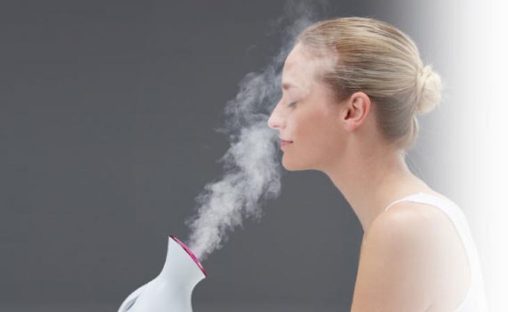 Xông hơi thải độc tố da mặt